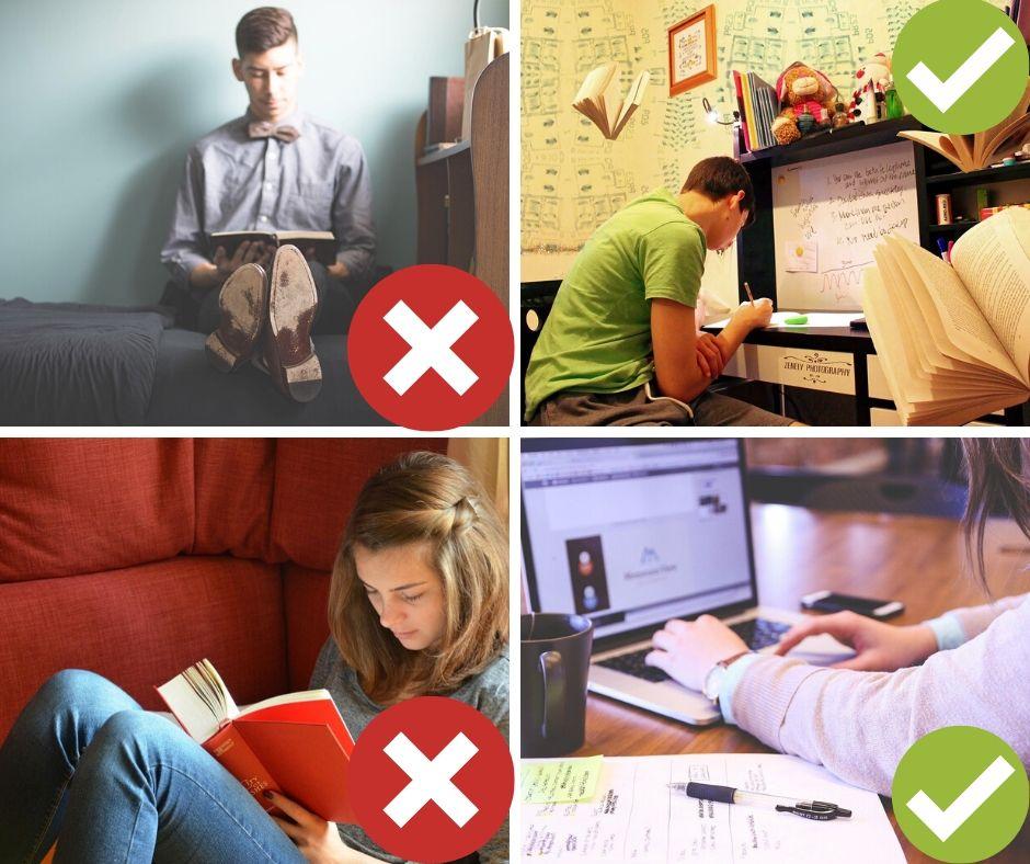 les lieux à éviter étudier de la maison